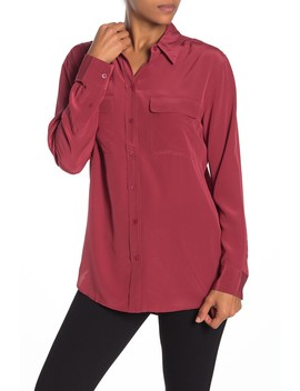 Signature Silk Button Down Shirt by Equipment