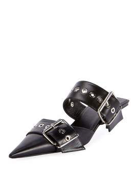 Belted Calf Leather Mules by Balenciaga