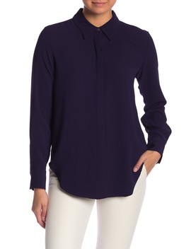 Sunaya Urban Crepe Shirt by Theory