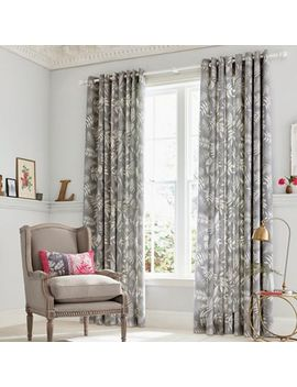 Clarissa Hulse   Grey Cotton Sateen 'espinillo' Lined Curtains by Clarissa Hulse
