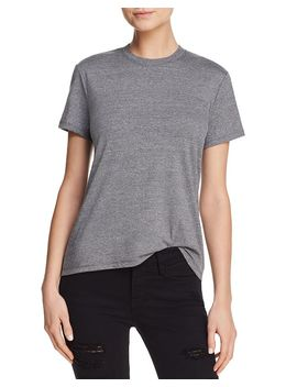 X Bloomingdale's Crewneck Tee   100 Percents Exclusive by Hanes Luxe Collection
