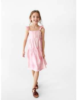Ruffled Tie Dye Dress  New Ingirl by Zara