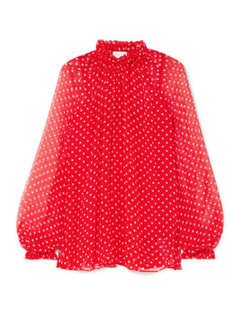 Ninety Six Swing Polka Dot Silk Georgette Blouse by Zimmermann