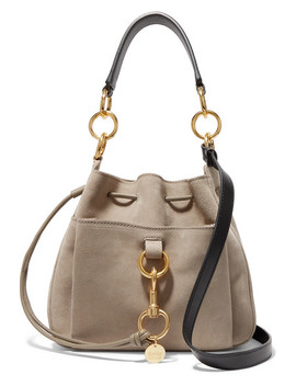 Tony Suede And Leather Bucket Bag by See By Chloé