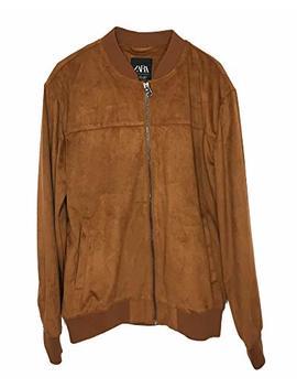 Zara Men Suede Effect Jacket 8418/405 Brown by Zara