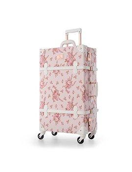 Uniwalker Travel Floral Suitcases Vintage Cute Luggage For Women by Uniwalker