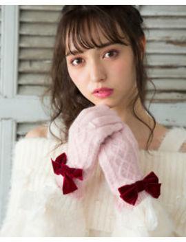 Liz Lisa   Knit Ribbon Gloves ( Japan Lolita Sweet Kawaii ) by Liz Lisa