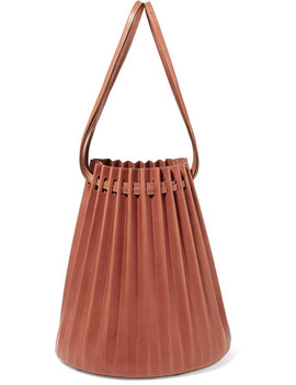 Pleated Leather Bucket Bag by Mansur Gavriel