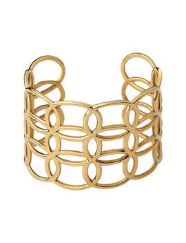Ovals 18kt Yellow Gold Vermeil Cuff Bracelet by Links Of London