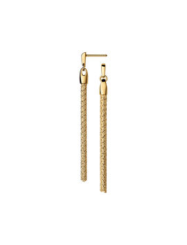 Essentials 18kt Yellow Gold Vermeil Silk Row Earrings by Links Of London
