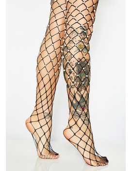 Mother Of Pearl Fishnet Tights by