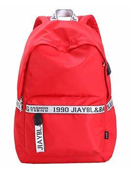 Mocha Weir Jiaybl Children School Girls Ladies Women Backpack With Usb Port (Red) by Mocha Weir