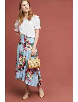 Claudette Midi Skirt by Maeve