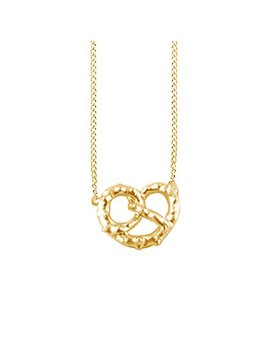 Jewel Zone Us 14k Gold Over Sterling Silver Fashion Tiny Pretzel Necklace & Pendant by Jewel Zone Us