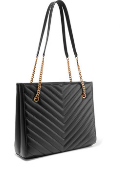 Tribeca Medium Quilted Textured Leather Tote by Saint Laurent