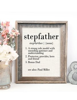 """<Span Data Inner Title="""""""">Stepfather Gifts, Definition Of Stepfather, Stepfather Father's Day Gift, Stepfather Birthday Gift, Present, Bonus Dad</Span> by Etsy"""