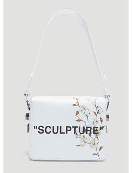 Sculpture Flower Flap Bag In White by Off White