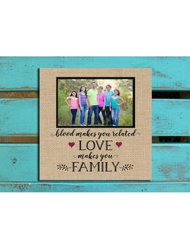 Blended Family Gift, Blood Makes You Related, Photo Mat, Adopted Family Gift, Stepmother Gift, Stepfather Gift, Stepmom Wedding Gift, by Etsy