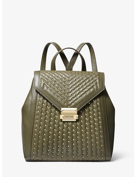 Whitney Medium Studded Leather Backpack by Michael Michael Kors