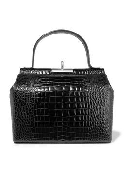 Chord Croc Effect Leather Tote by Gu De