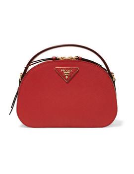Brique Leather Shoulder Bag by Prada
