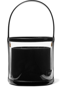 Bissett Pvc And Patent Leather Bucket Bag by Staud