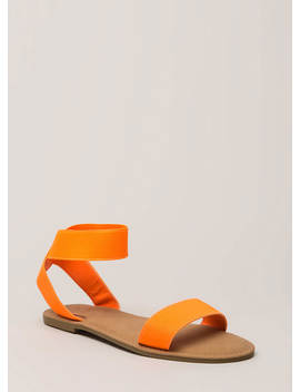 Band Together Strappy Elastic Sandals by Go Jane