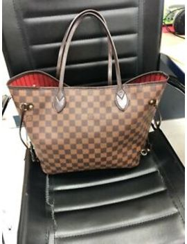 Louis Vuitton Neverfull Mm Damier Ebene Canvas Red by Louis Vuitton