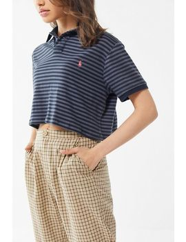 Vintage Overdyed Striped Polo Shirt by Urban Renewal