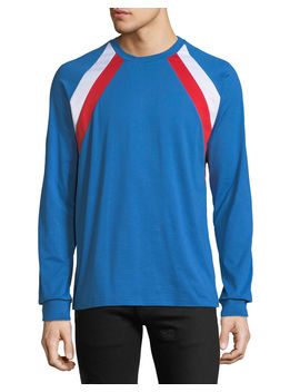 Men's Colorblock Long Sleeve T Shirt by Givenchy