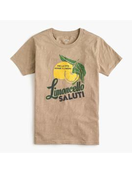 """Limoncello"" T Shirt In Vintage Cotton by J.Crew"