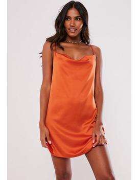 Orange Cowl Front Cami Dress by Missguided