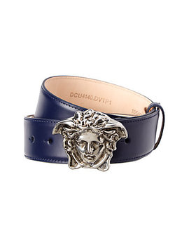 Versace Palazzo Medusa Buckle Leather Belt by Versace