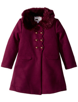 Faux Fur Double Breasted Coat (Toddler/Little Kids/Big Kids) by Janie And Jack