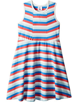 Multi Stripe Skater Dress (Toddler/Little Kids/Big Kids) by Toobydoo