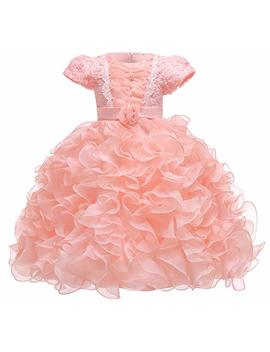Baby Girl Dresses Ruffle Lace Pageant Party Wedding Flower Girl Dress by Jup'elle