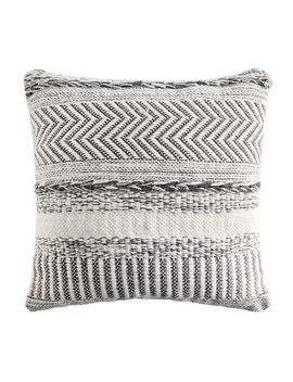 "Farmhouse Stripe 18"" Square Black Pillow by Pier1 Imports"