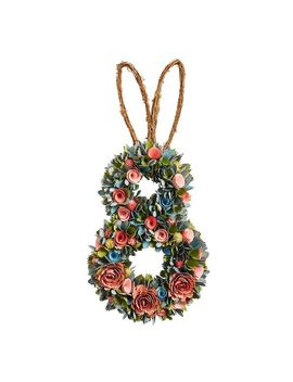 Pink, Blue &Amp; Green Bunny Wood Curl Wreath by Pier1 Imports