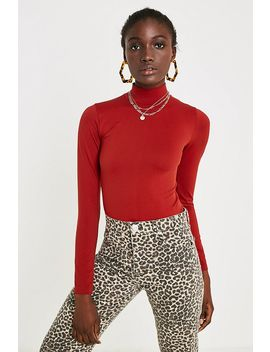 Uo   Haut Sassy Rouge à Col Cheminée by Urban Outfitters