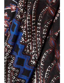 Asis Printed Cotton And Silk Blend Midi Dress by Ulla Johnson