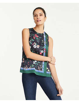 Floral Side Pleat Shell by Ann Taylor