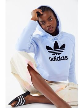 Adidas Originals Trefoil Cropped Hoodie Sweatshirt by Adidas