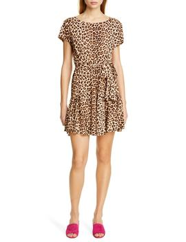 Leopard Print Linen Minidress by Rebecca Taylor
