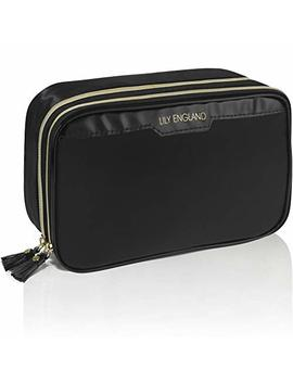 Lily England Makeup Bag Organizer, Make Up Storage Bags, Black Cosmetic Case by Lily England