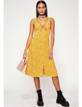 Honey Tangerine Floral Dress by