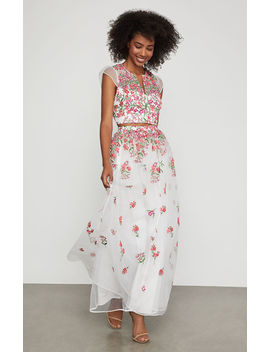 Floral Embroidered Maxi Skirt by Bcbgmaxazria