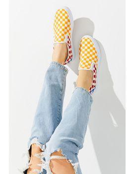 Vans Primary Checkerboard Slip On Sneaker by Vans