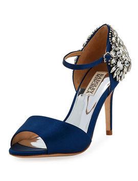 Harbor Crystal Embellished Satin Sandals by Badgley Mischka