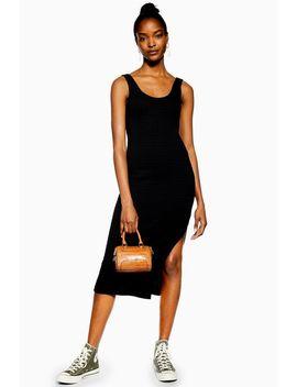Black Natural Column Midi Dress by Topshop