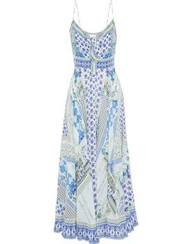 Day Dreamer Embellished Printed Silk Crepe De Chine Maxi Dress by Camilla
